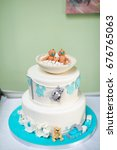 Cake For Twins For Christenings