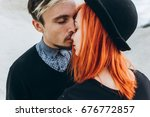 portrait of a young couple in... | Shutterstock . vector #676772857