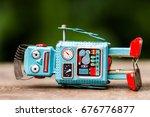 retro robot toy   Shutterstock . vector #676776877