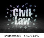 law concept  glowing text civil ... | Shutterstock . vector #676781347