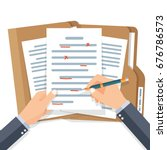 editing documents to correct... | Shutterstock .eps vector #676786573