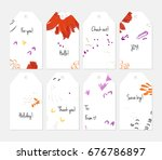 hand drawn creative tags....   Shutterstock .eps vector #676786897