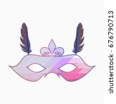 carnival face mask with... | Shutterstock .eps vector #676790713