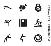 set of 9 editable fitness icons....