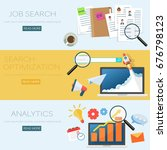 concept of job searching... | Shutterstock .eps vector #676798123