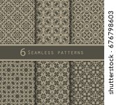 a pack of vintage pattern... | Shutterstock .eps vector #676798603