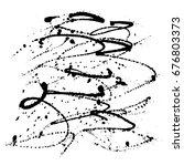 grunge splatter. ink stains... | Shutterstock .eps vector #676803373