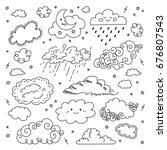 Cloud Hand Drawn Clouds Icons...