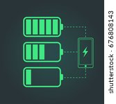 battery charge status. mobile... | Shutterstock .eps vector #676808143