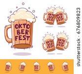 beer mug  beer icon oktoberfest ... | Shutterstock .eps vector #676809823