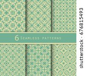 a pack of vintage pattern... | Shutterstock .eps vector #676815493
