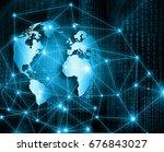best internet concept. globe ... | Shutterstock . vector #676843027