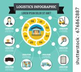 logistics infographic banner... | Shutterstock .eps vector #676862887