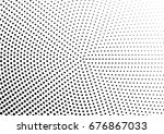 abstract halftone dotted... | Shutterstock .eps vector #676867033