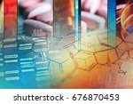 chemistry science formula.... | Shutterstock . vector #676870453