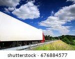 truck transportation | Shutterstock . vector #676884577