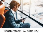 adult handsome bearded... | Shutterstock . vector #676885627