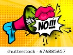 pop art megaphone  bullhorn