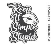 keep it simple stupid design | Shutterstock .eps vector #676909237