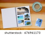 photobook album  with travel... | Shutterstock . vector #676961173
