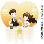 valentine day lovers   sitting... | Shutterstock .eps vector #67699510