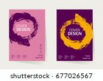 book cover  annual report...   Shutterstock .eps vector #677026567