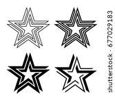 black star symbol infinite loop ... | Shutterstock .eps vector #677029183