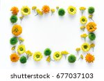creative frame with colorful...   Shutterstock . vector #677037103