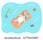 hand drawn vector illustration... | Shutterstock .eps vector #677043487