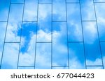 the cloud reflected in the...