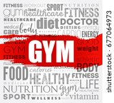gym word cloud collage  health...   Shutterstock .eps vector #677064973
