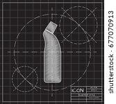 vector blueprint cleaner bottle ... | Shutterstock .eps vector #677070913