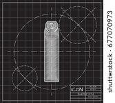 vector blueprint air freshener...   Shutterstock .eps vector #677070973
