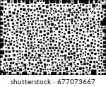 black geometric shape on white...   Shutterstock .eps vector #677073667