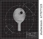 vector blueprint ping pong...   Shutterstock .eps vector #677077123