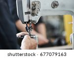 shoe production process in... | Shutterstock . vector #677079163