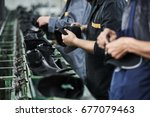 shoe production process in...   Shutterstock . vector #677079463