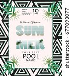 summer pool party poster....   Shutterstock .eps vector #677093077