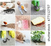 different types of dirt on... | Shutterstock . vector #677112757