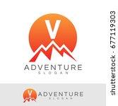 Adventure Initial Letter V Log...