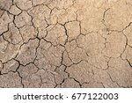 drought  the ground cracks  no... | Shutterstock . vector #677122003