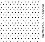 hand drawn seamless pattern... | Shutterstock .eps vector #677132203