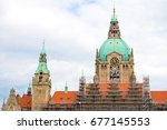 Stock photo the new town hall the residence of the head of the municipal administration hannover lower 677145553