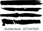 grunge paint stripe . vector... | Shutterstock .eps vector #677147323