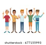 white background with colorful... | Shutterstock .eps vector #677155993