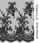 seamless vector black lace... | Shutterstock .eps vector #677159923