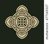 vintage abstract ornamental... | Shutterstock .eps vector #677165227