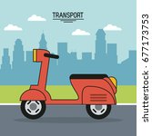 colorful poster of transport... | Shutterstock .eps vector #677173753
