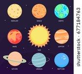 illustration vector of solar... | Shutterstock .eps vector #677184763