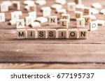 business mission word collected ... | Shutterstock . vector #677195737